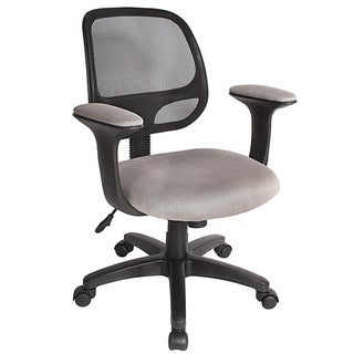 Comfort Products Gray and Black Breezer Mesh Adjustable Task Chair