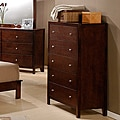 Sonata Cherry Finish 5-drawer Chest