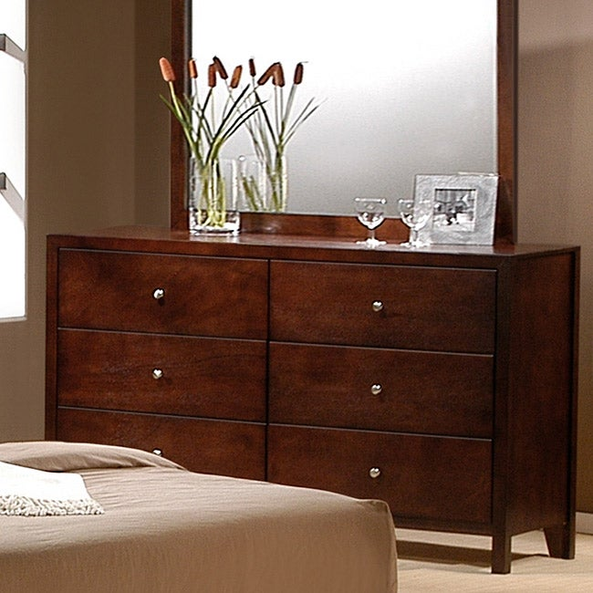 Sonata Cherry Finish 6-drawer Dresser