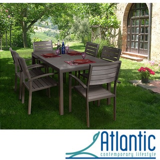 Antigua 7-piece Faux Wood Dining Set
