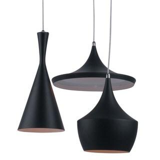 Fulham Black Geometrical Metal Pendants (Set of 3)