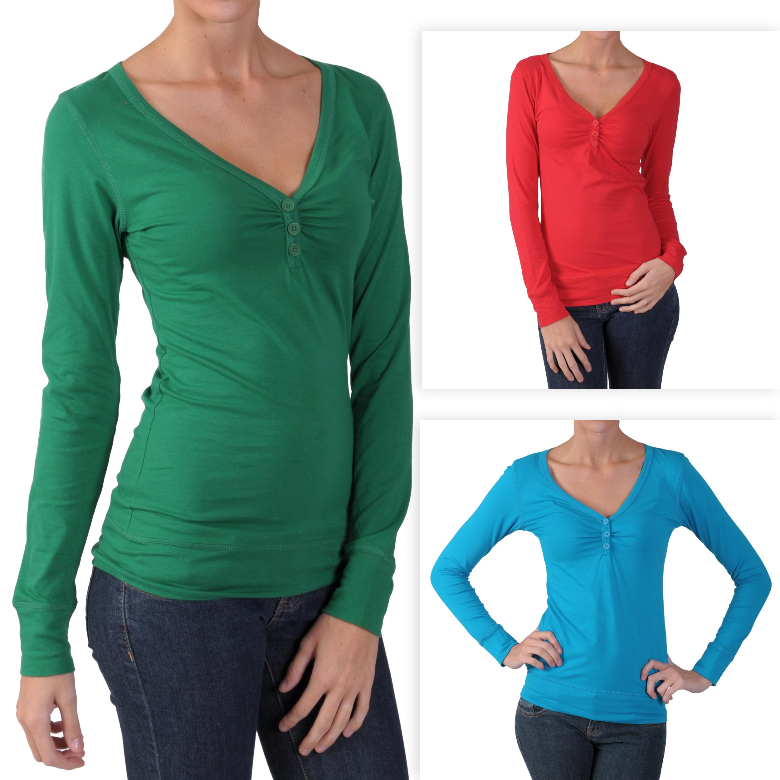 Hailey Jeans Co. Juniors Banded V-neck Henley Top
