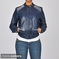 Knoles & Carter Women's Leather Contempo Racing Jacket