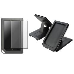 Black Leather Case/ Screen Protector for Barnes and Noble Nook Color