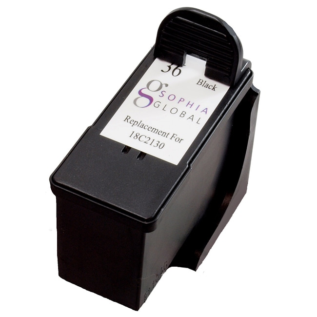 Sophia Global Lexmark 36 Black Ink Cartridge (Remanufactured)