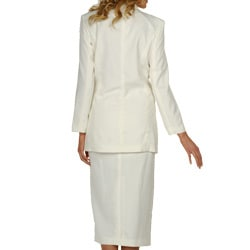 Divine Apparel Women's Double-breasted Skirt Suit