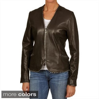 Tibor Women's Waist Length Leather Jacket