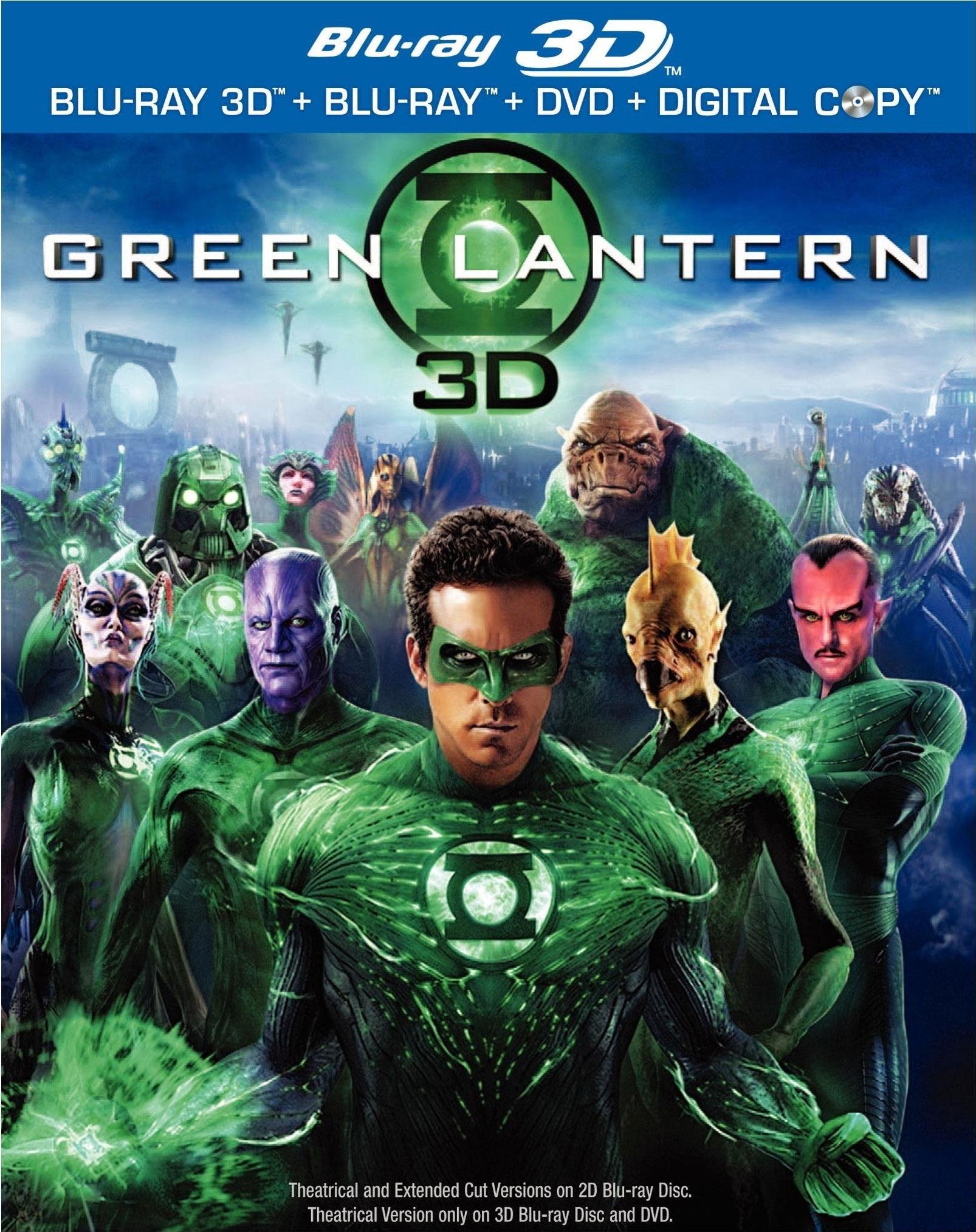 Green Lantern - Extended Cut (Blu-ray 3D / Blu-ray / DVD)