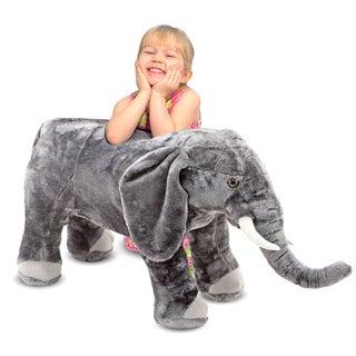 Melissa & Doug Plush Elephant - Silver