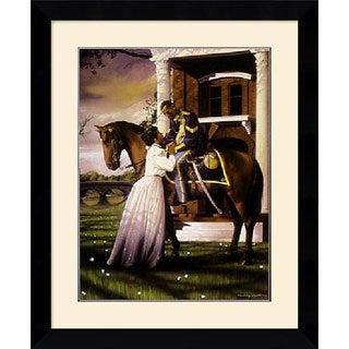 Edward Clay Wright 'Farewell' Framed Art Print