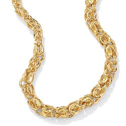 PalmBeach Yellow Goldtone Byzantine Chain Tailored