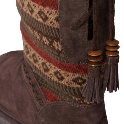 Bearpaw Women's 'Grace' Suede Sheepskin-lined Boots