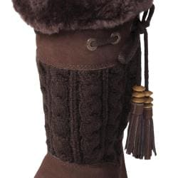 Bearpaw Women's 'Constantine' Suede/Knit Sheepskin-lined Boots