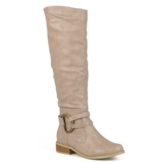Journee Collection Women's 'Charming-01' Regular and Wide-calf Knee-high Riding Boot