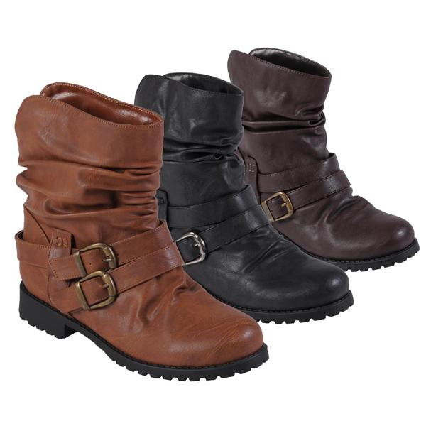 Hailey Jeans Co. Women's 'Jimba-7' Buckle Detail Slouchy Boots