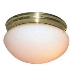 Woodbridge Lighting Basic 1-light Polished Brass Mushroom Glass Flush Mounts (Pack of 6)