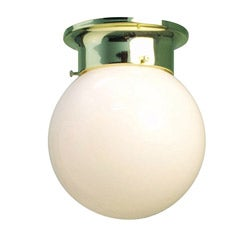 Woodbridge Lighting Basic 1-light Opal Glass Polished Brass Flush Mount (Pack of 12)