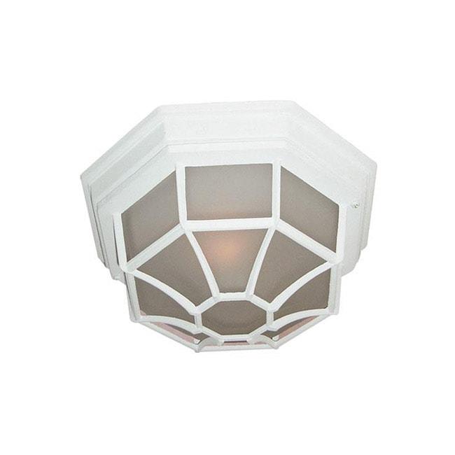 Woodbridge Lighting Basic 1-light Powder Coat White Outdoor Flush Mount