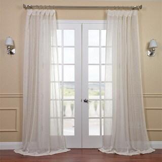 Linen Open Weave Cream 84-inch Sheer Curtain Panel