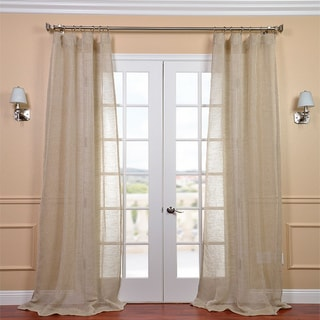 Linen Open Weave Natural 108-inch Sheer Curtain Panel