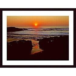 John K. Nakata 'Sunset' Wood Framed Art Print