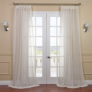 Linen Open Weave Cream 96-inch Sheer Curtain Panel