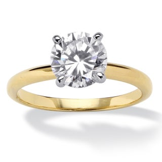 Ultimate CZ Two-tone Cubic Zirconia Engagement-style Ring