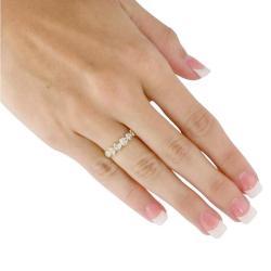 PalmBeach 14k Gold-plated Crystal Ring Bold Fashion