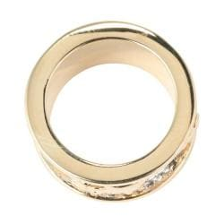 Toscana Collection 14k Yellow Gold-Plated Two-tone 10.7-millimeter Elephant Design Band