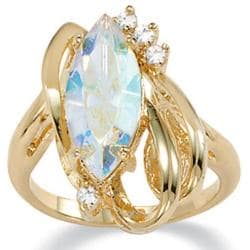 Lillith Star 14k Gold-plated Marquise Aurora Borealis and Crystal Ring