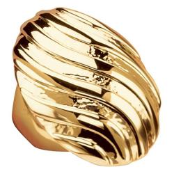 Toscana Collection 14k Goldplated Swirled Dome Ring