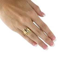 PalmBeach 18k Goldplated Triple Cross Ring Tailored