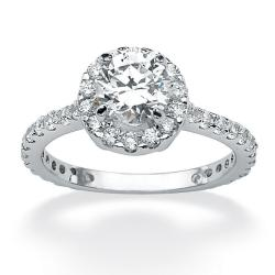 Ultimate CZ Sterling Silver Round Clear Cubic Zirconia Ring