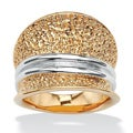 Toscana Collection Two-Tone 18k Goldplated Concave Ring