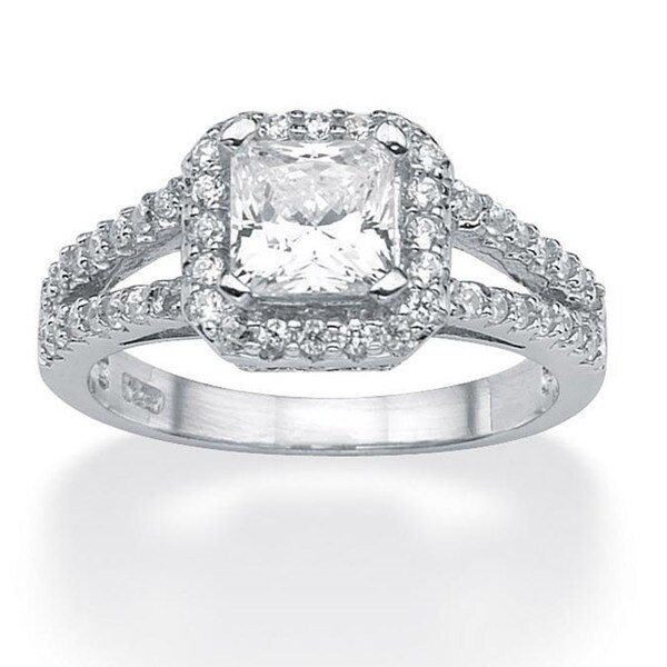 ultimate cz platinum sterling silver clear cubic