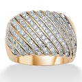 Ultimate CZ Goldtone Clear Cubic Zirconia Ring