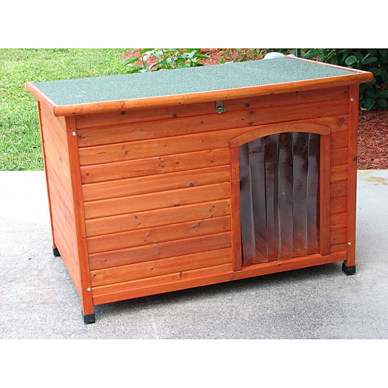 Crown Pet Products Large Cedar Slant Roof Pet House