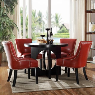 Westmont 5-piece Hot Red Faux Leather Dining Set