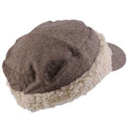 Hailey Jeans Co. Women's Button Accent Shearling Band Military Cap