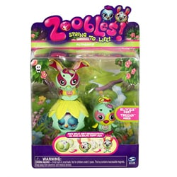 Zoobles Bunny and Bird Happitat Toy