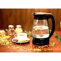 Ovente White Glass 1.7-liter Cord-Free Electric Kettle
