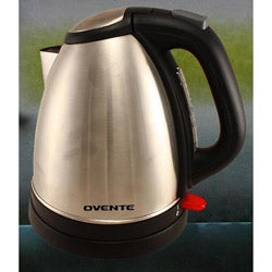 Ovente Brushed Stainless Steel 1.7-liter Cord-free Electric Kettle