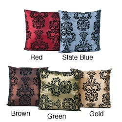 CD Home Flocked Throw Pillows (Set of 2)