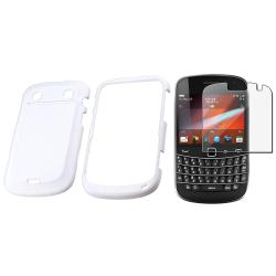 White Snap-on Case/ Screen Protector for Blackberry Bold 9900/ 9930