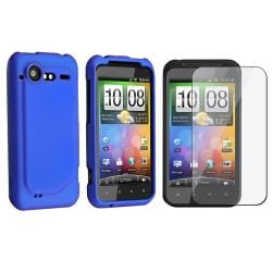 Dark Blue Case/ Screen Protector for HTC Droid Incredible S