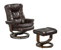 At Home Designs Scandia European Mocha Chair/Ottoman