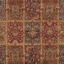 Asian Hand-knotted Royal Kerman Multicolor Wool Rug (6' x 9')