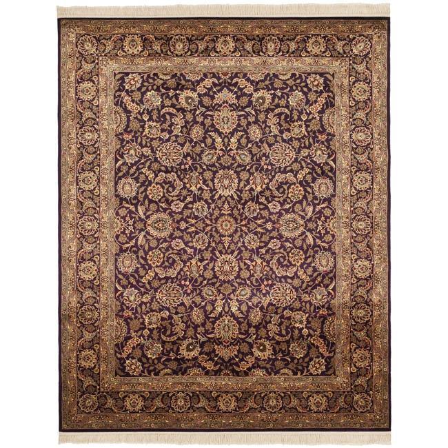 Asian Hand-Knotted Royal Kerman Purple Oriental Wool Rug (6' x 9')