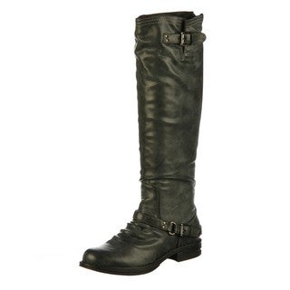 Madden Girl Women's 'Zoiiee' Black Riding Boots FINAL SALE