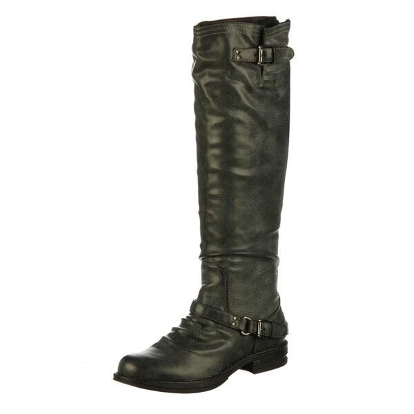 Madden Girl Women's 'Zoiiee' Black Riding Boots FINAL SALE